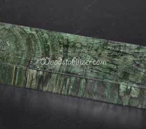 Green Crosscut Spalted Maple Stabilized