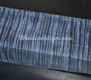 Stabilized Blue Curly Maple  $