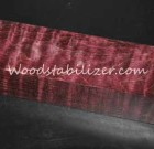 Stabilized Black Cherry Quilted Maple