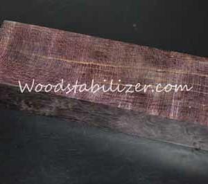 Stabilized Plum Crazy Purple Figured Curly Maple