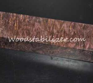 Stabilized Plum Crazy Purple Maple Burl