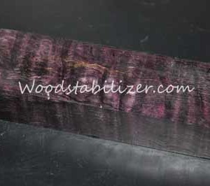 Stabilized Plum Crazy Purple Quilted Maple