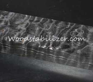 Stabilized Smokey Grey Quilted Maple