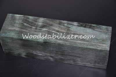 Stabilized Green Blue Quilted Maple